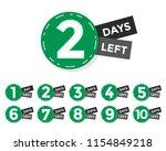 number of days left badge or...   Shutterstock .eps vector #1154849218