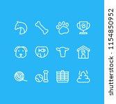 vector illustration of 12 zoo... | Shutterstock .eps vector #1154850952