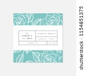 vector patten for cosmetics... | Shutterstock .eps vector #1154851375