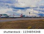 london  uk   august 10th  2018  ... | Shutterstock . vector #1154854348