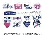 collection of hand made...   Shutterstock .eps vector #1154854522