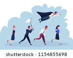 businessperson diversity poses... | Shutterstock .eps vector #1154855698