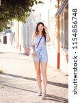 full length portrait of... | Shutterstock . vector #1154856748