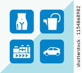 4 container icons in vector set.... | Shutterstock .eps vector #1154868982