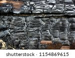 close up picture of burned wood ... | Shutterstock . vector #1154869615