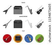 electric guitar  loudspeaker ... | Shutterstock .eps vector #1154873605