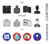 elevator car  mini bar  staff ...   Shutterstock .eps vector #1154875588