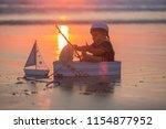 cute baby child  sweet boy ...   Shutterstock . vector #1154877952