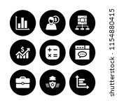9 analysis icons in vector set. ...