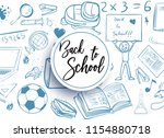 back to school vector banner... | Shutterstock .eps vector #1154880718