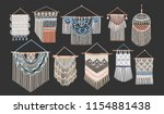 bundle of macrame wall hangings ... | Shutterstock .eps vector #1154881438
