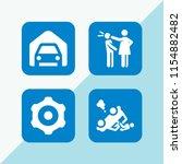 4 traffic icons in vector set....   Shutterstock .eps vector #1154882482