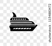 luxury yacht vector icon... | Shutterstock .eps vector #1154883472