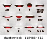 cartoon talking mouth and lips... | Shutterstock .eps vector #1154884612