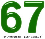 numeral 67  sixty seven ... | Shutterstock . vector #1154885635