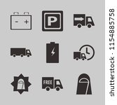 vehicle vector icons set. with...   Shutterstock .eps vector #1154885758