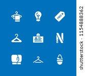 9 hanging icons in vector set.... | Shutterstock .eps vector #1154888362