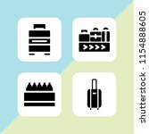 4 packing icons in vector set.... | Shutterstock .eps vector #1154888605