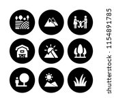 meadow icon. 9 meadow set with... | Shutterstock .eps vector #1154891785