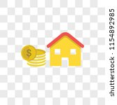 mortgage vector icon isolated... | Shutterstock .eps vector #1154892985