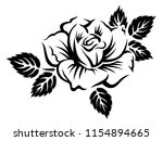 stylized blooming rose.... | Shutterstock .eps vector #1154894665