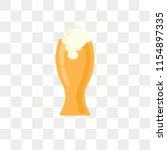 pint vector icon isolated on... | Shutterstock .eps vector #1154897335