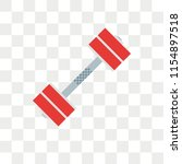 barbell vector icon isolated on ... | Shutterstock .eps vector #1154897518