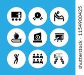 9 instructor icons in vector... | Shutterstock .eps vector #1154900425