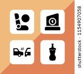 4 dummy icons in vector set.... | Shutterstock .eps vector #1154907058
