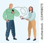 vector cartoon illustration of... | Shutterstock .eps vector #1154908075