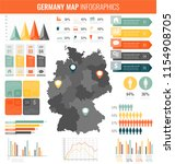 germany map with infographic... | Shutterstock .eps vector #1154908705