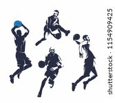 collection basketball or jump...   Shutterstock .eps vector #1154909425