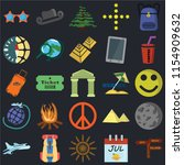 set of 25 icons such as pointer ...