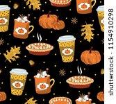 seamless pattern. autumn yellow ...   Shutterstock .eps vector #1154910298