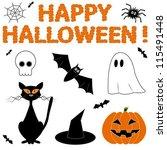 halloween set   Shutterstock .eps vector #115491448