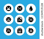 cry icon. 9 cry set with crying ... | Shutterstock .eps vector #1154915128