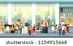 coworkers in office. people in... | Shutterstock .eps vector #1154915668