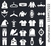 set of 25 icons such as pants ...
