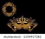 golden ornamental segment  ... | Shutterstock . vector #1154917282