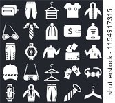 set of 25 icons such as hanger  ...