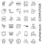 thin line vector icon set  ... | Shutterstock .eps vector #1154919328