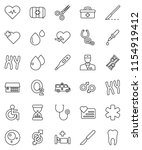 thin line vector icon set  ... | Shutterstock .eps vector #1154919412