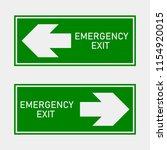 fire hazard. route of... | Shutterstock .eps vector #1154920015
