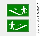 fire hazard. route of... | Shutterstock .eps vector #1154920018