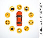 concept of car service. set of...   Shutterstock .eps vector #1154920492