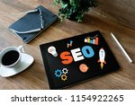 seo search engine optimization. ... | Shutterstock . vector #1154922265