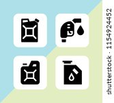 petrol icon. 4 petrol set with... | Shutterstock .eps vector #1154924452