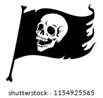 pirate flag  with laughing... | Shutterstock .eps vector #1154925565