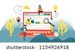 search concept. searching... | Shutterstock .eps vector #1154926918