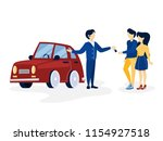 young happy couple buying new...   Shutterstock .eps vector #1154927518